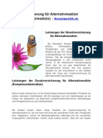 Zusatzversicherung für Alternativmedizin