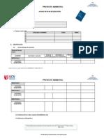 Formato Avance de ejecuciòn  Proyecto Ambiental 2013-1