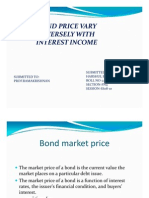 BOND PRICE RELATION WITH INTERESTS