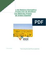Análisis Energético del Proceso Productivo de Biodiésel