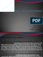 Responsibilities of an Architect