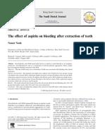 Efek aspirin pada pencabutan gigi