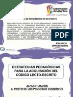 ESTRATEGIAS PEDAGÓGICAS PARA LA ADQUISICIÓN DEL CODIGO LECTO-ESCRITO