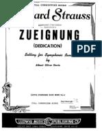 Zueignung-Richard Strauss