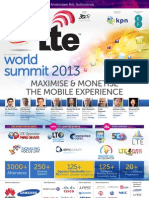 LTE WorldSummit Brochure 2013 #LTEWS