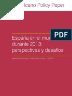 Espana en 2013 Perspectivas Desafios Elcano