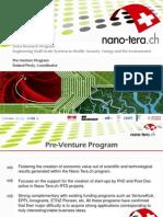 Pre Venture Program nano-tera 2013