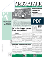 Takoma Park Newsletter - June 2013