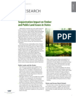Sequestration Impact on Timber and Public Land Issues in States