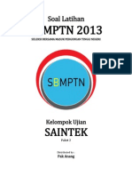 Naskah Soal Prediksi 2 SBMPTN 2013 Saintek (IPA)