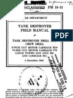 FM 18-15 Tank Destroyer Field Manual 1943