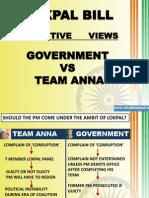 Janlokpal vs Govt. Lokpal Bill