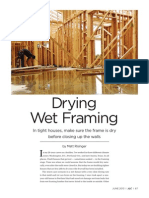 Drying Wet Framing JLC June 2013 Article