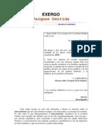 1 - De la Gramatología - Exergo