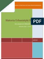 Historia Urbanistyki II