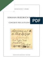 D-Dresden JF Fasch Concerto Mus 2423-V-1 Modern Edition + TAB