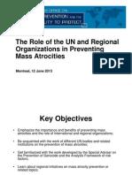 Role of UN & Regional Organizations in Preventing Mass Atrocities
