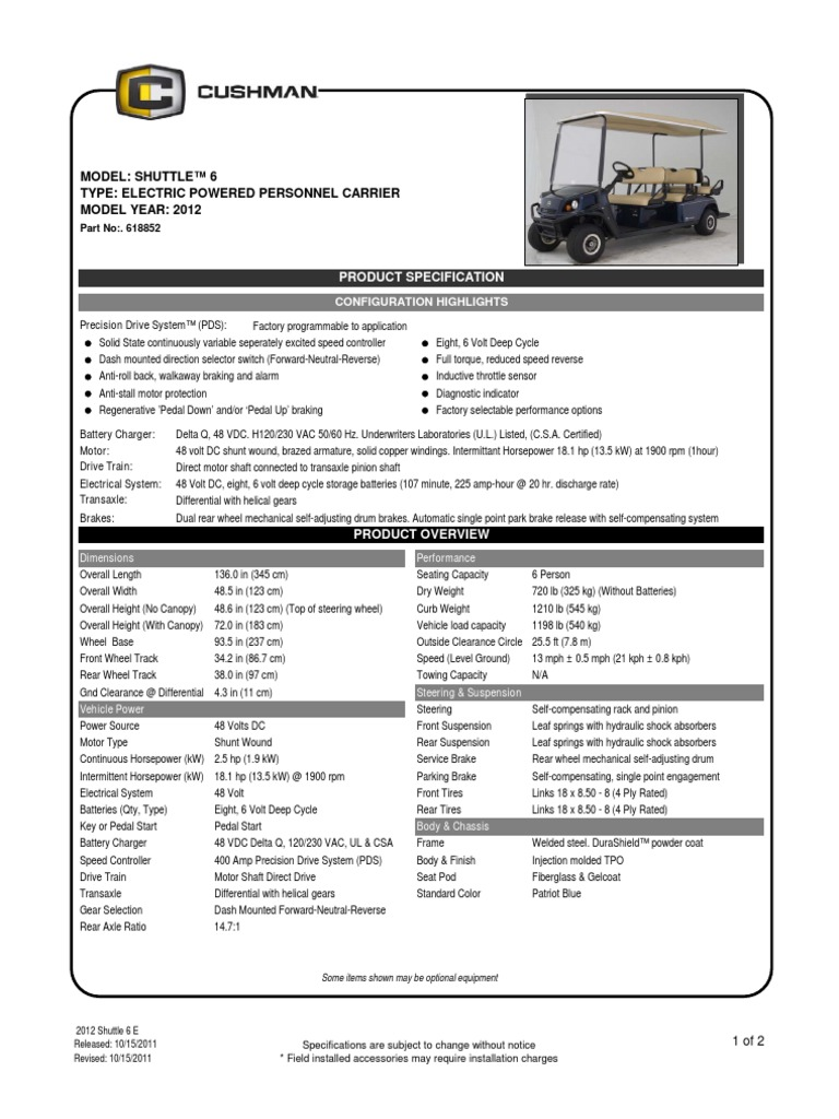 2012 SpecShts Shuttle 6 E,0 | Axle | Suspension (Vehicle)