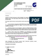 Surat Jemputan Pelajar Konvo Jun 2013