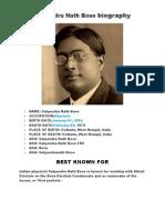 Satyendra Nath Bose biography.doc