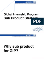 Sub Product Strategy