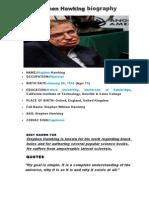 Stephen Hawking biography.doc
