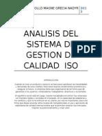 Analisis Del Sistema de Gestion de Calidad Iso