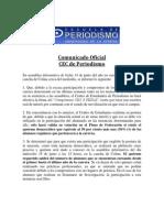 Comunicado Oficial CEC Periodismo Junio 2013
