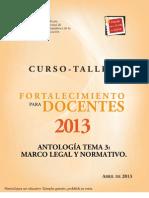 Tema 3 Antologia Marco Legal y Normativo2013