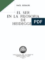 Echauri - El Ser en La Filosofia de Heidegger