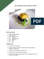 Bacalo Glaseado Carbon de Yuca Guisantes y Wasabi