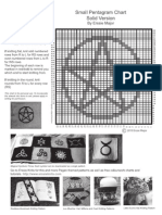 Small Solid Pentagram Chart Grey Scale Version