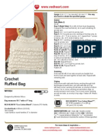 CROCHET - Michele WilkcoxCrochet Ruffled Bag