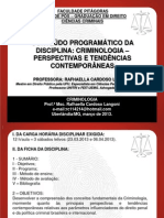 Aula Pos Criminologia