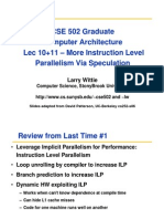 CSE502 Lec10 11-Dynamic-schedB SpeculationS10