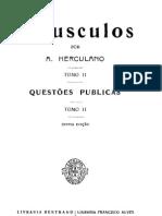 Opúsculos, de Alexandre Herculano, vol. 2