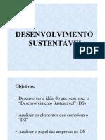 Desenvolvimento Sustentável - AULA 1