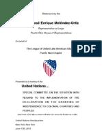 Ponencia JEM ante Comité de Descolinización de la ONU