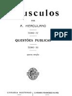 Opúsculos, de Alexandre Herculano, vol. 4