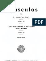 Opúsculos, de Alexandre Herculano, vol. 6