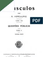Opúsculos, de Alexandre Herculano, vol. 8