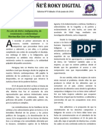 Boletín Ñe'e Roky Digital N° 5 - Junio 2013