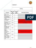 Zebra Safety Audit Checklist Pool Car Junction
