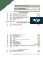 Presupuesto Gastos 2013