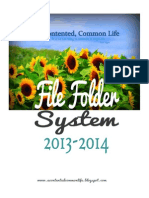 A Contented, Common Life's File Folder System 2013-14