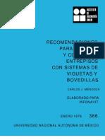 366 Recomendaciones Viguetas y Bovedilla