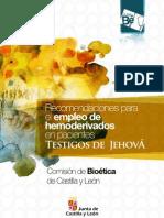 Recomendaciones para el Empleo de Hemoderivados en Pacientes Testigos de Jehová