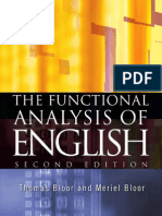 Bloor, The Functional Analysis of English
