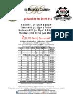 2013 LA Poker Series - $120 Step Satellite Structure