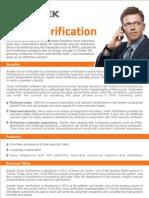 Voice Verification Brochure